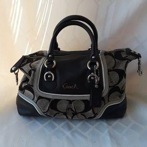 Coach black & grey handbag